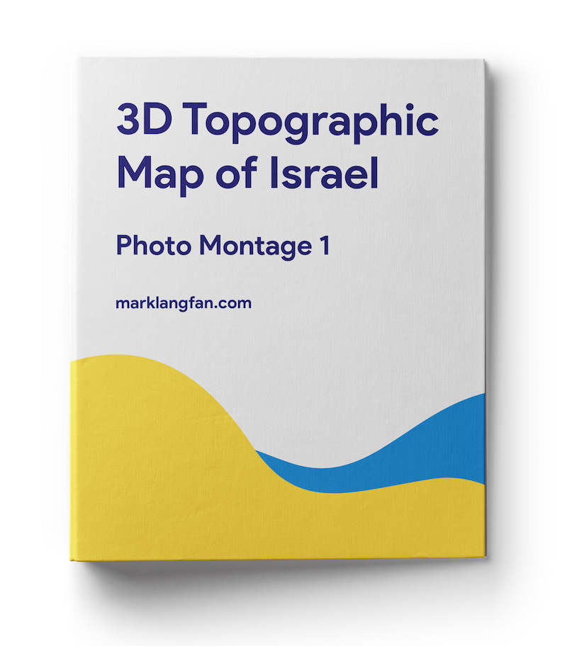 3d topographic map photo book 01