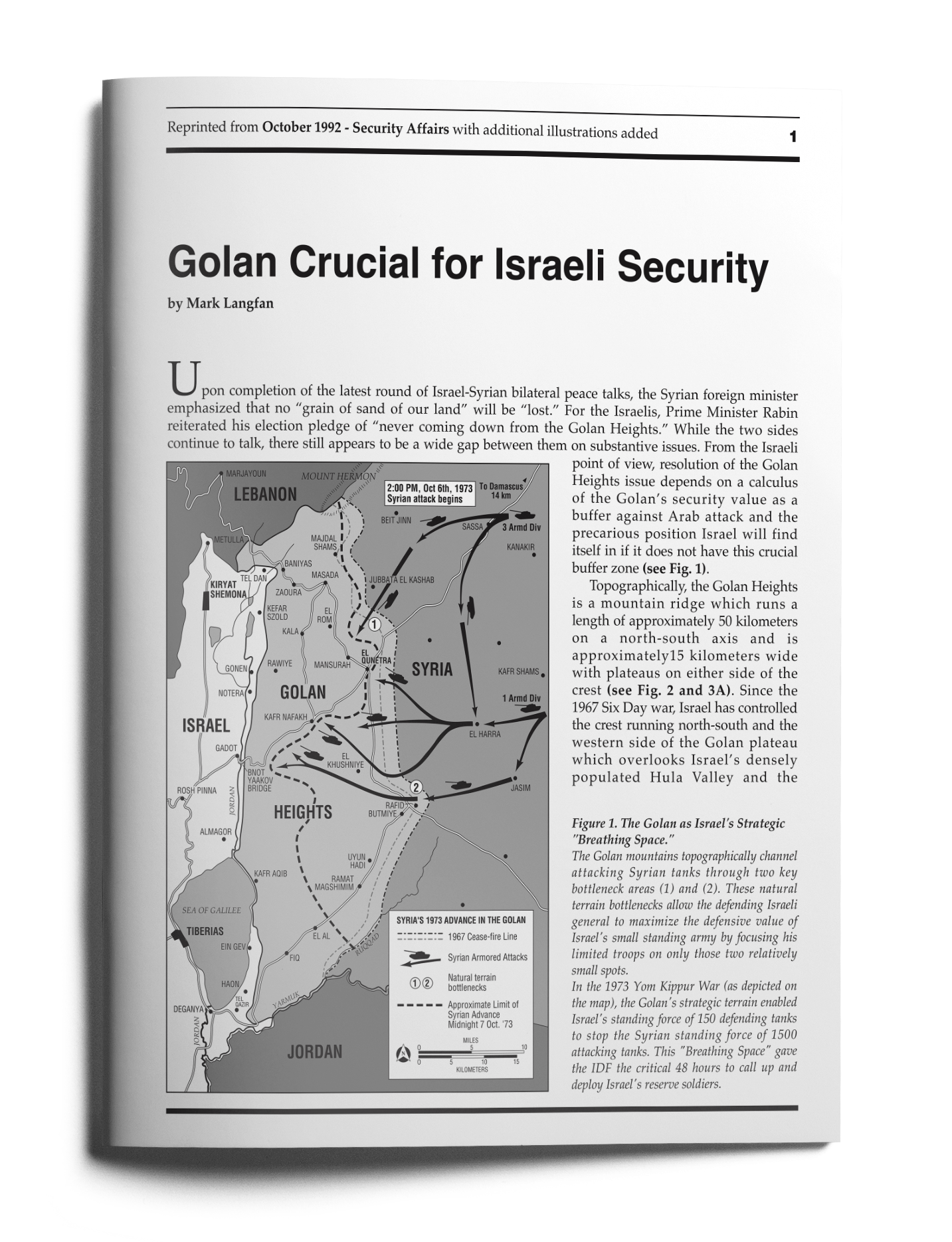 golan crucial for israeli security