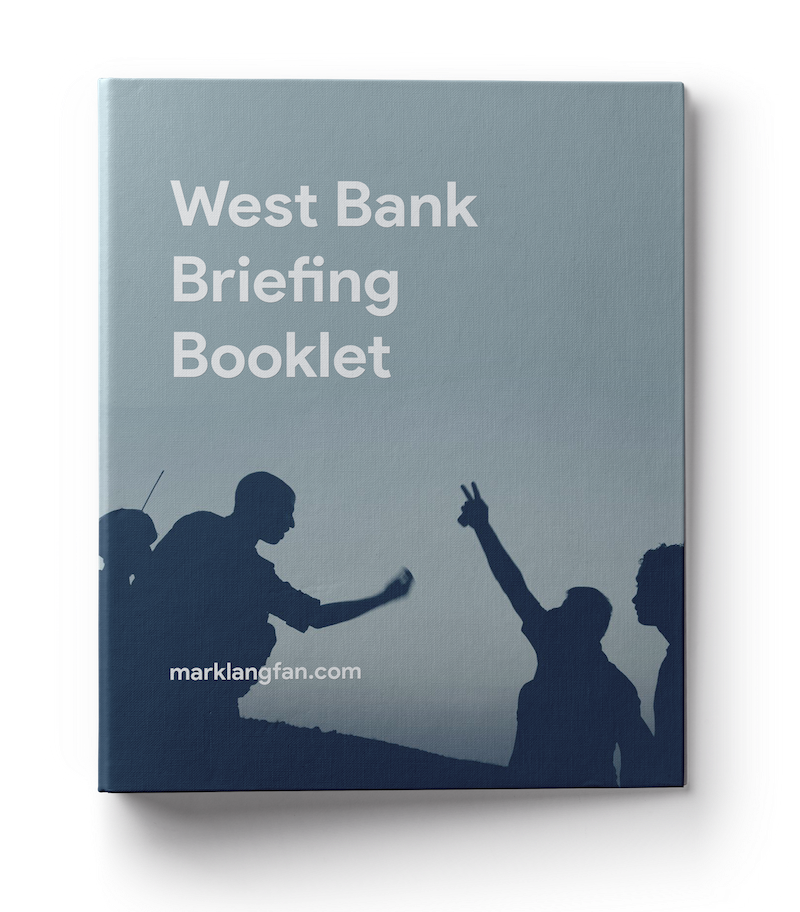 west bank briefing booklet